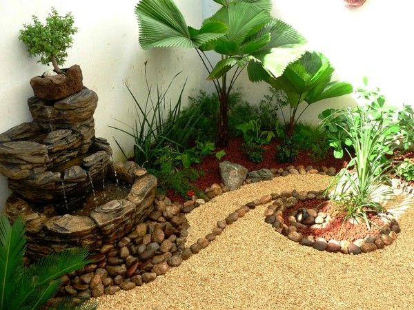 Small Garden Creating A Courtyard Feng Shui Garden Ideas Gravel River  Stones Well