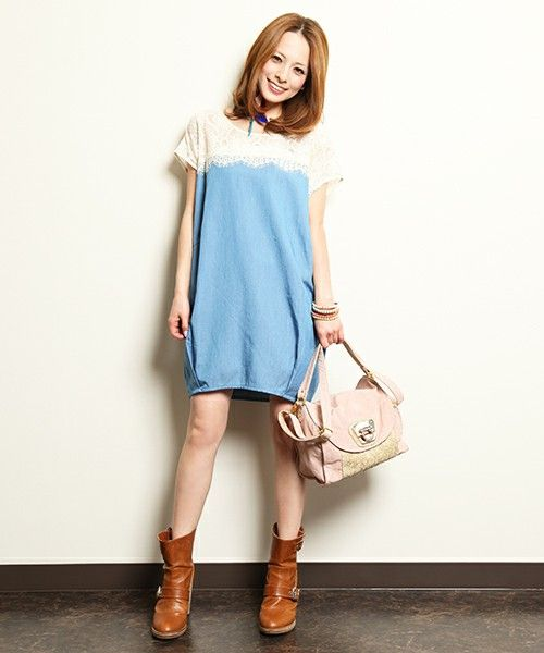 SMADDY / LACE TUCK ONE-PIECE