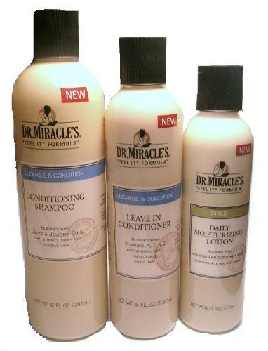 Dr Miracles Conditioning Shampoo Leave In Conditioner Daily Moisturizing Lotion By Dr Miracles 16 95 Miracle Hair Products Conditioning Shampoo Shampoo