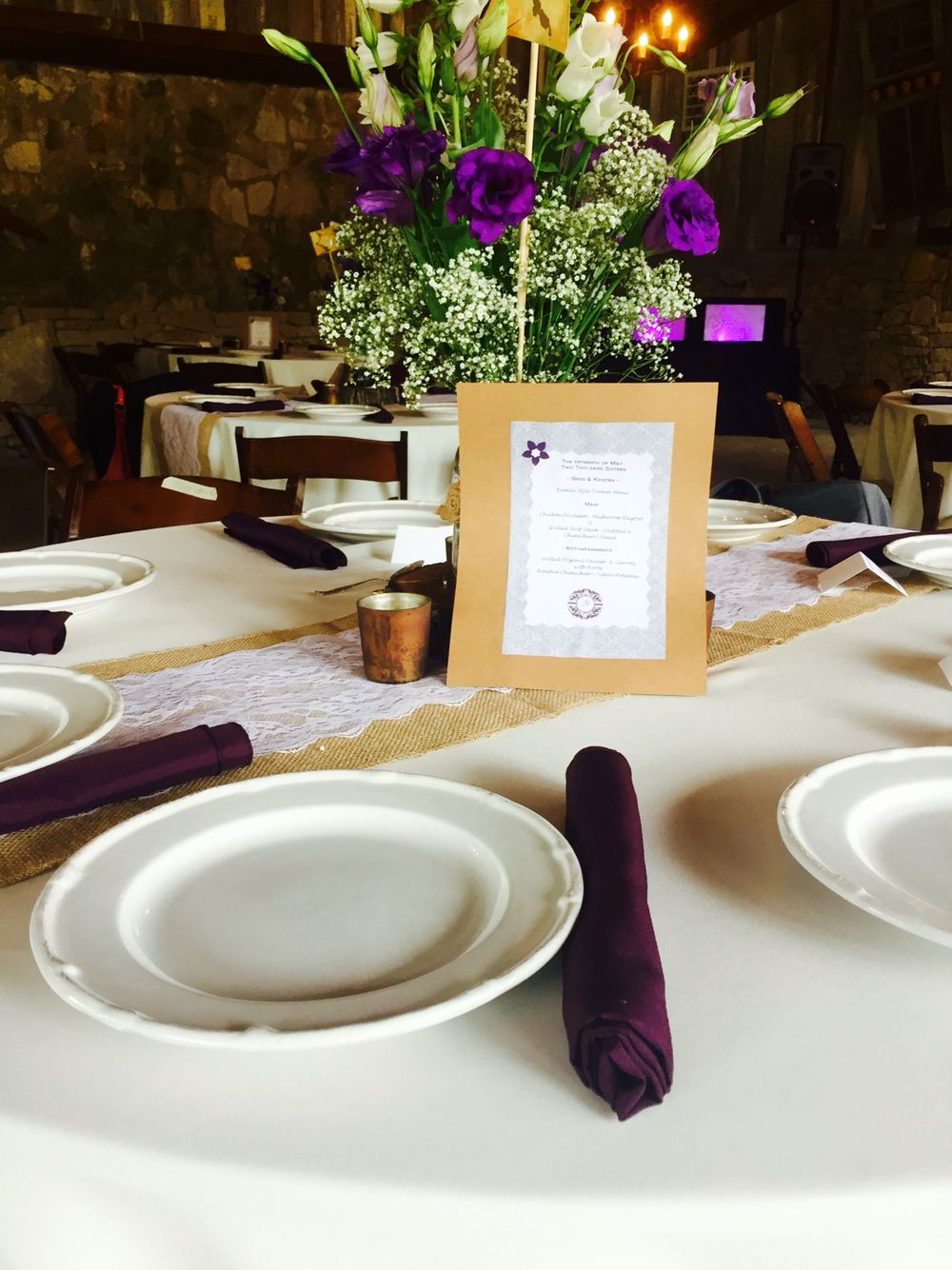 Custom menus for family style dining #weddings #catering