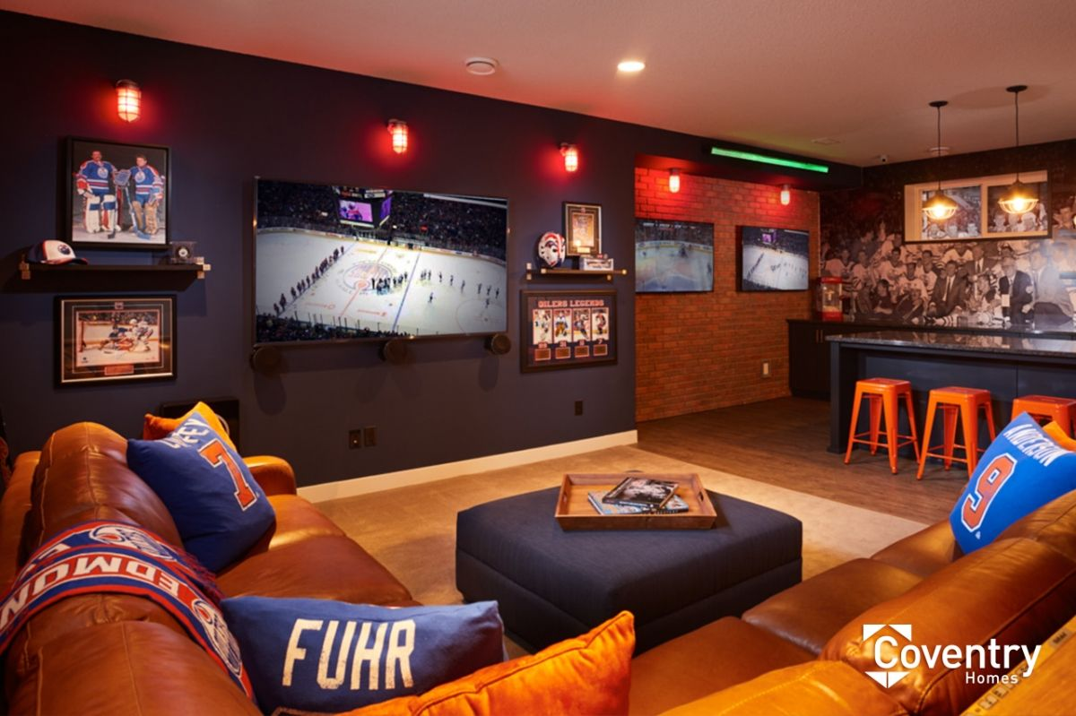 Oilers Fan Cave Man Cave Home Bar Man Cave Design Home Bar Design