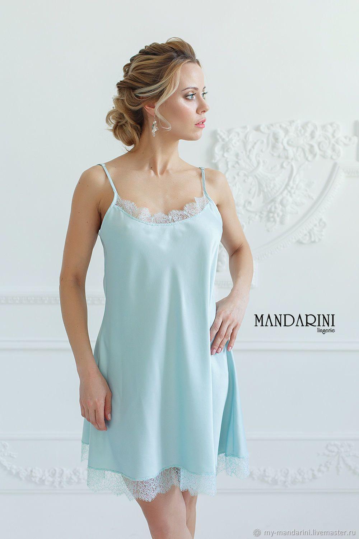 4bb1dfbf91e9064 ночнушка, ночная сорочка, мятная сорочка, атласная сорочка, шелковая  сорочка,negligee,