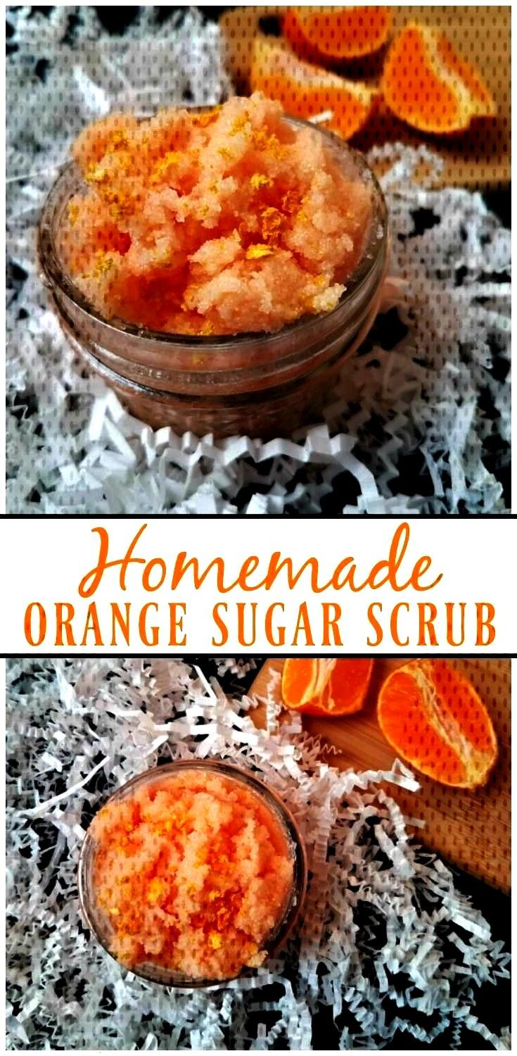 DIY project. Learn how to make your own Homemade Orange Sugar Scrub with a few ingredients that you