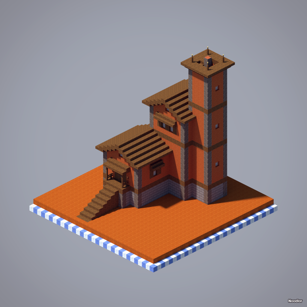 Fortified House Western Style Westerns And House