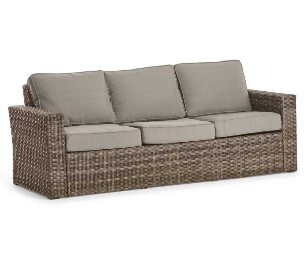 Broyhill Eagle Brooke All Weather Wicker Cushioned Patio Sofa Big Lots In 2020