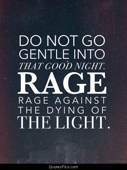 Do Not Go Gentle Jpg 500 672 Quote Word Quotations Into That Good Night Poem Paraphrase