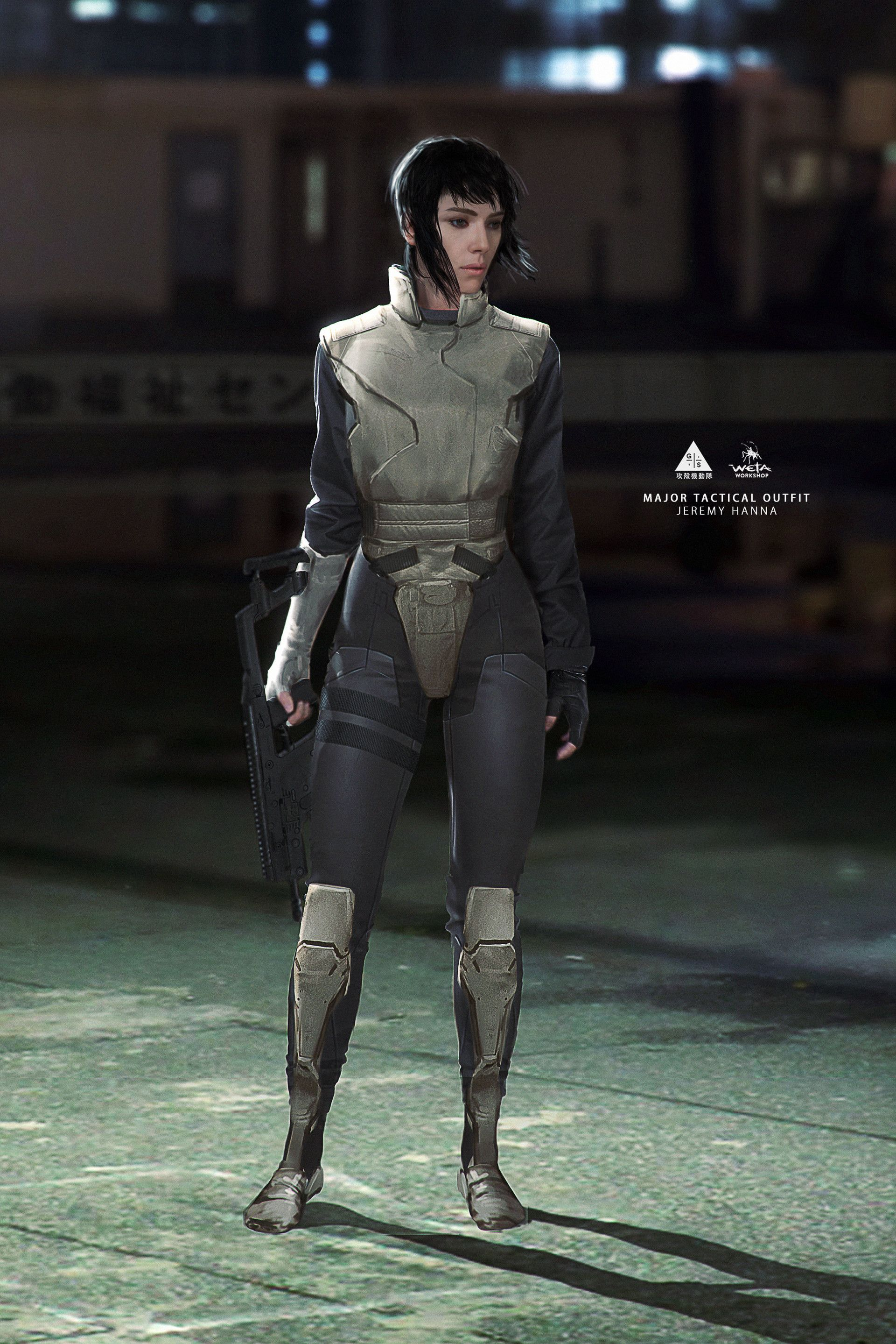 Artstation Ghost In The Shell Major Costumes Weta Workshop Design Studio Ghost In The Shell Weta Workshop Ghost