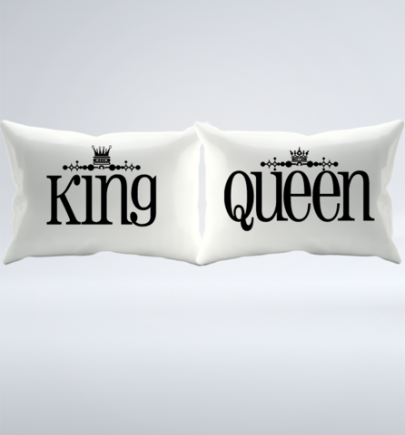A Fun Matching King & Queen Pillowcase Set Quotes and Pillows. Love Happy Family Lifestyles is ...