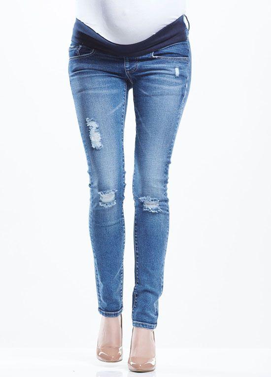 31f3804497b8b Soon Maternity - Blaze Distressed Skinny Jeans | : Maternity Jeans ...