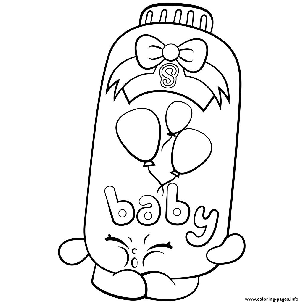 Print Powder Baby Puff Shopkins Season 2 Coloring Pages