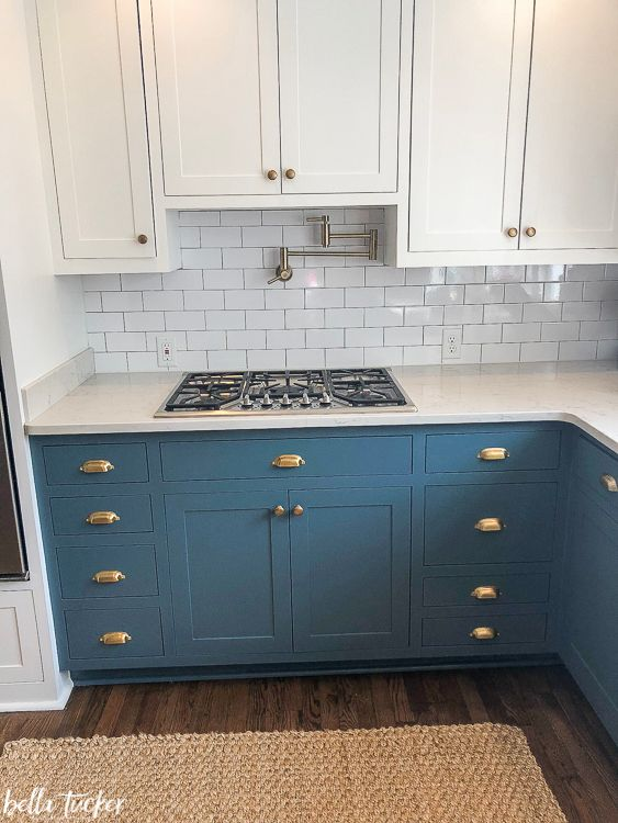 Best Blue And White Two Toned Kitchen Cabinets Teal Kitchen 640 x 480