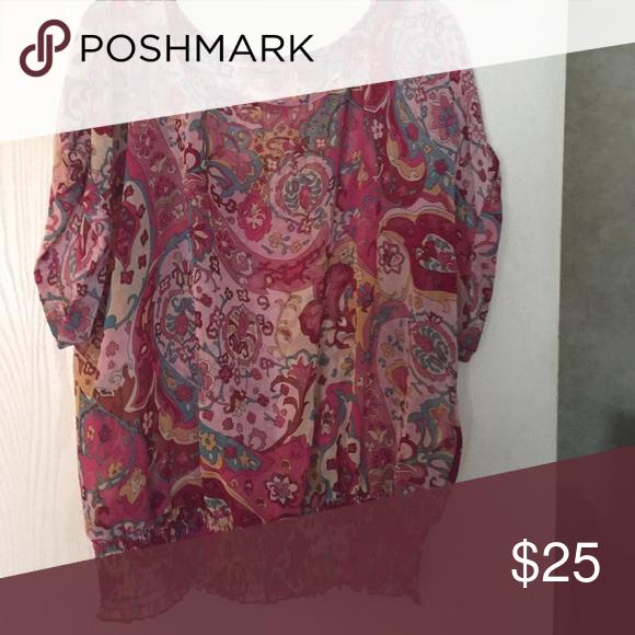 Size large Wrangler blouse Size large Wrangler brand blouse Wrangler Tops Blouses