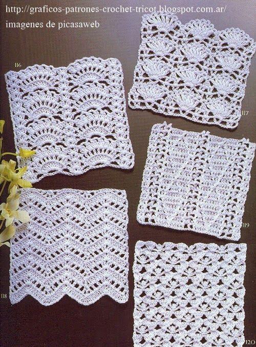 PUNTOS PARA TEJER A GANCHILLO | Crochet | Pinterest | Crochet ...