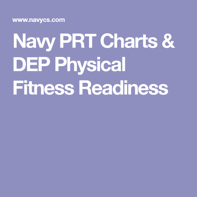 Navy Prt Charts Dep Physical Fitness Readiness Physical Fitness Physics Fitness