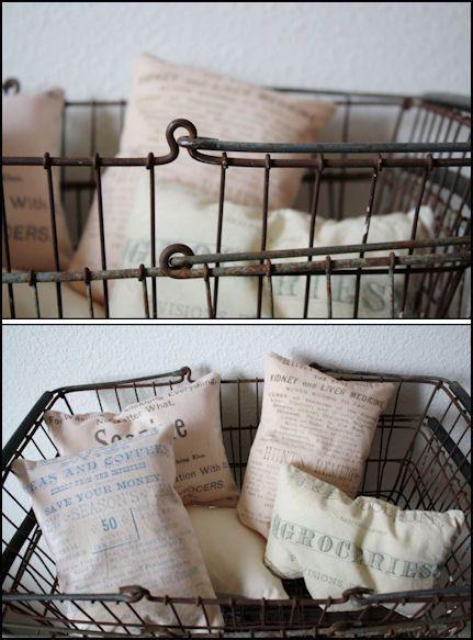 Vintage farmers market basket