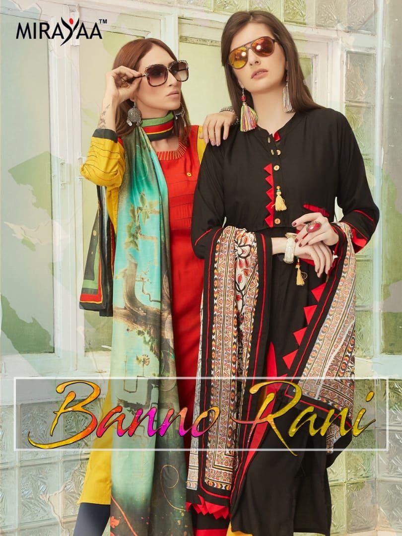 9bb31be84d Mirayaa Banno Rani Designer Fancy Heavy Rayon Readymade Kurtis with Digital  Printed Heavy Maslin Dupatta at Wholesale Rate
