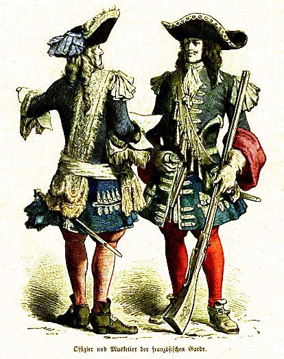 Officer And Musketeer Of The French Guard Mousquetaires