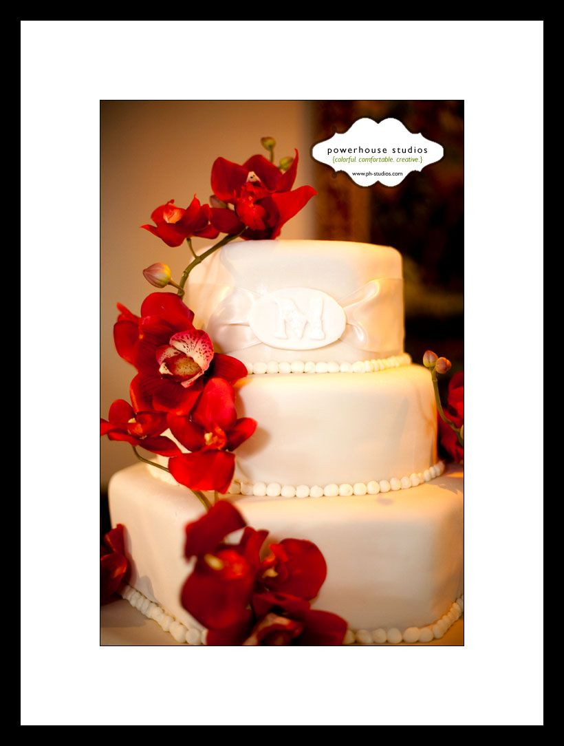 Red orchids on cake wedding ideas pinterest orchid wedding
