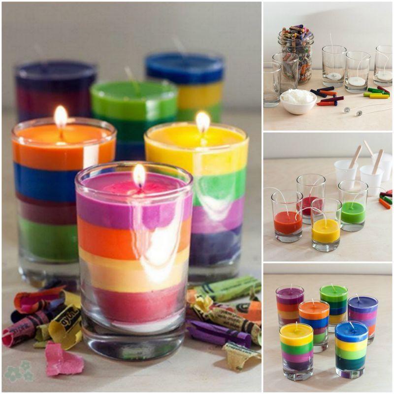 Tutorial Para Hacer Velas De Colores Caseras Recicladas A Partir De - Hacer-velas