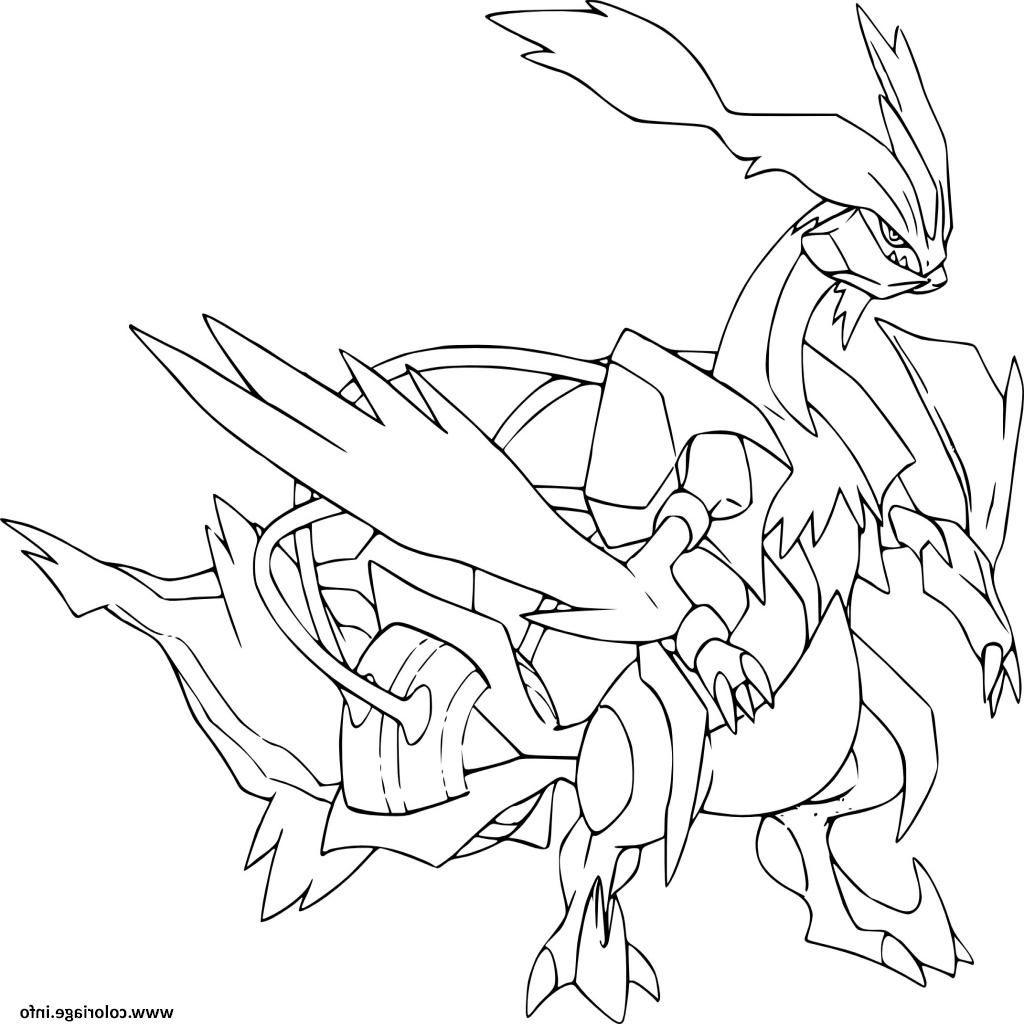 Kyurem Blanc Pokemon Legendaire Coloriage Dessin Coloriagepokemon