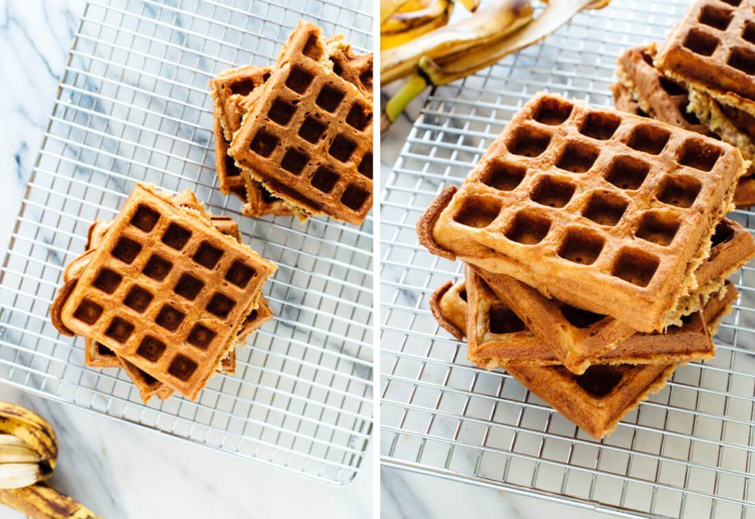 Gluten Free Banana Oat Waffles Cookie And Kate Recipe Gluten Free Banana Waffles Banana Oats