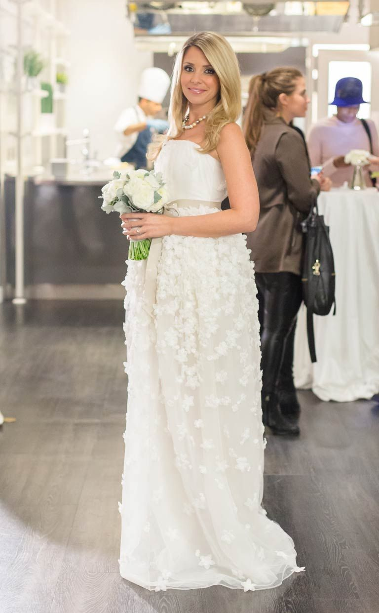 Cute Empire waist gown by David Dixon Wedding dress bride Exclusive Canadian