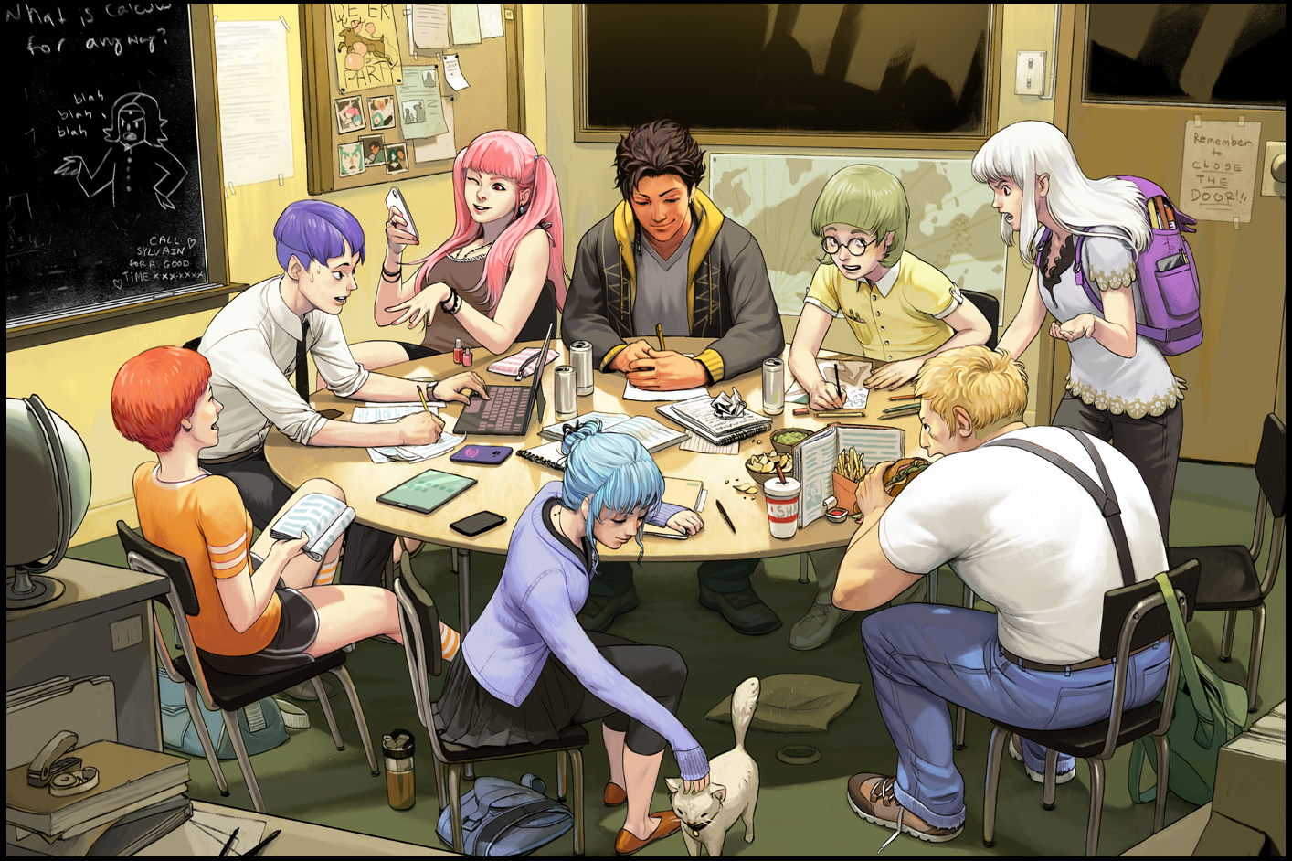 Study Session With The Golden Deer House Fire Emblem Three Houses Fire Emblem Fire Emblem Characters Fire Emblem Fates