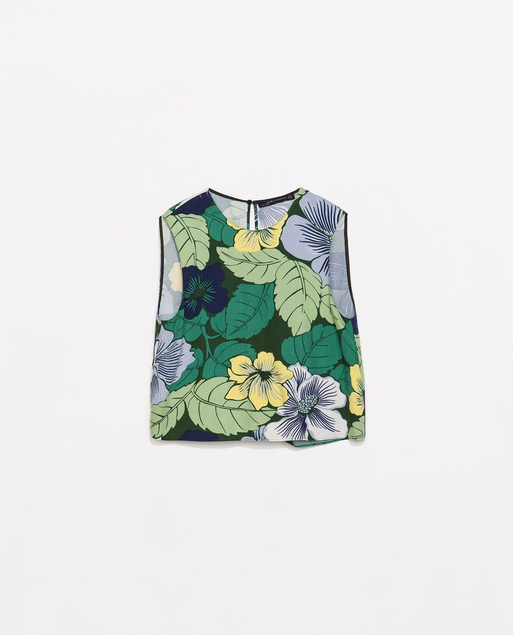 Printed Top Tops Woman Sale Zara United States