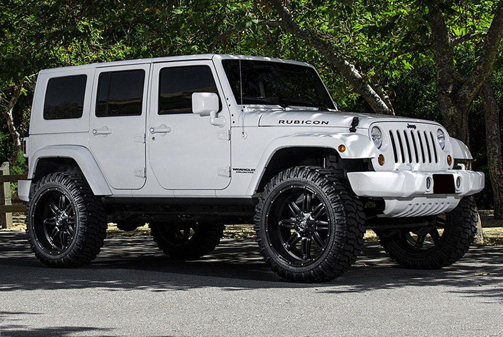 Fuel D531 Hostage 1pc Matte Black White Jeep Black Jeep
