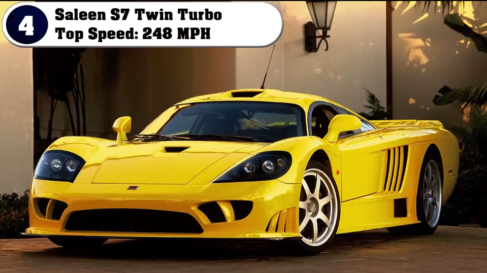 Fastest Cars In The World Saleen S TwinTurbo Top - Fast 4 car list