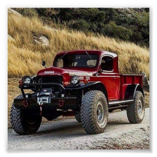 Póster camionetas pickup del vintage | Zazzle.com