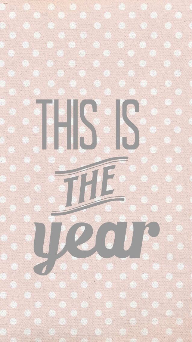 Super cute iPhone wallpaper for the the New Year! Happy