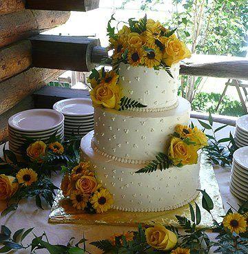Sunflower Wedding Cake Sunflower Wedding Cake Daisy Wedding