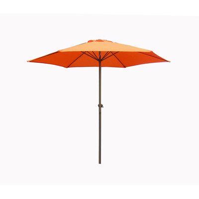 LB International 6.5' Market Umbrella Color: Orange
