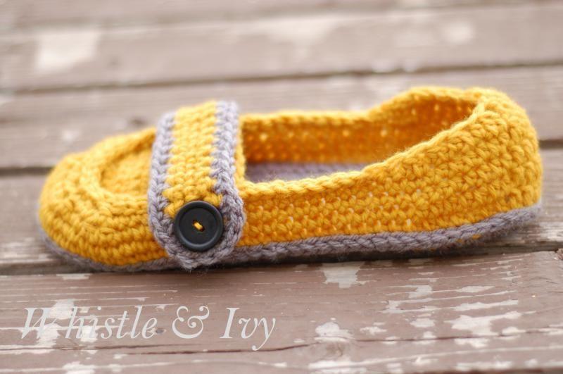 Women's Button Strap Slippers. Tutorial