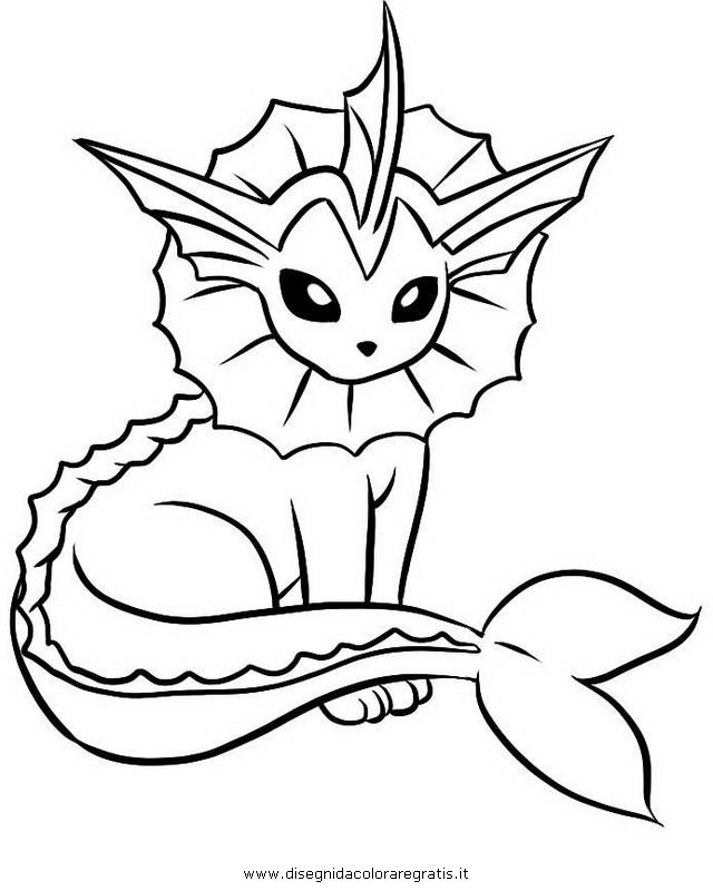 Vaporeon Coloring Pages Www Veupropia Org Pokemon