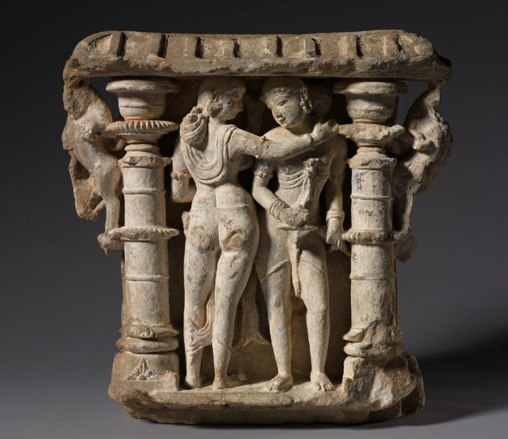 """lovers Mithuna "" Ca. 973 Ce . Northwestern India Rajasthan Sikar Harshagiri Pratihara"