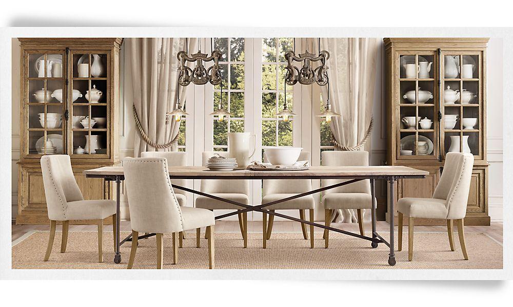 great kitchen table. restoration hardware   Dining room ...