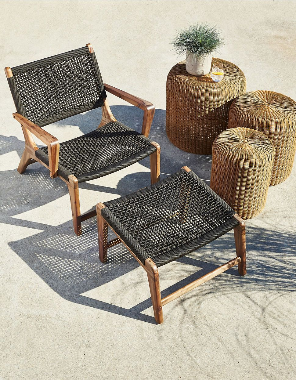 Kamala lounge chair with ottoman hudsons bay outdoor