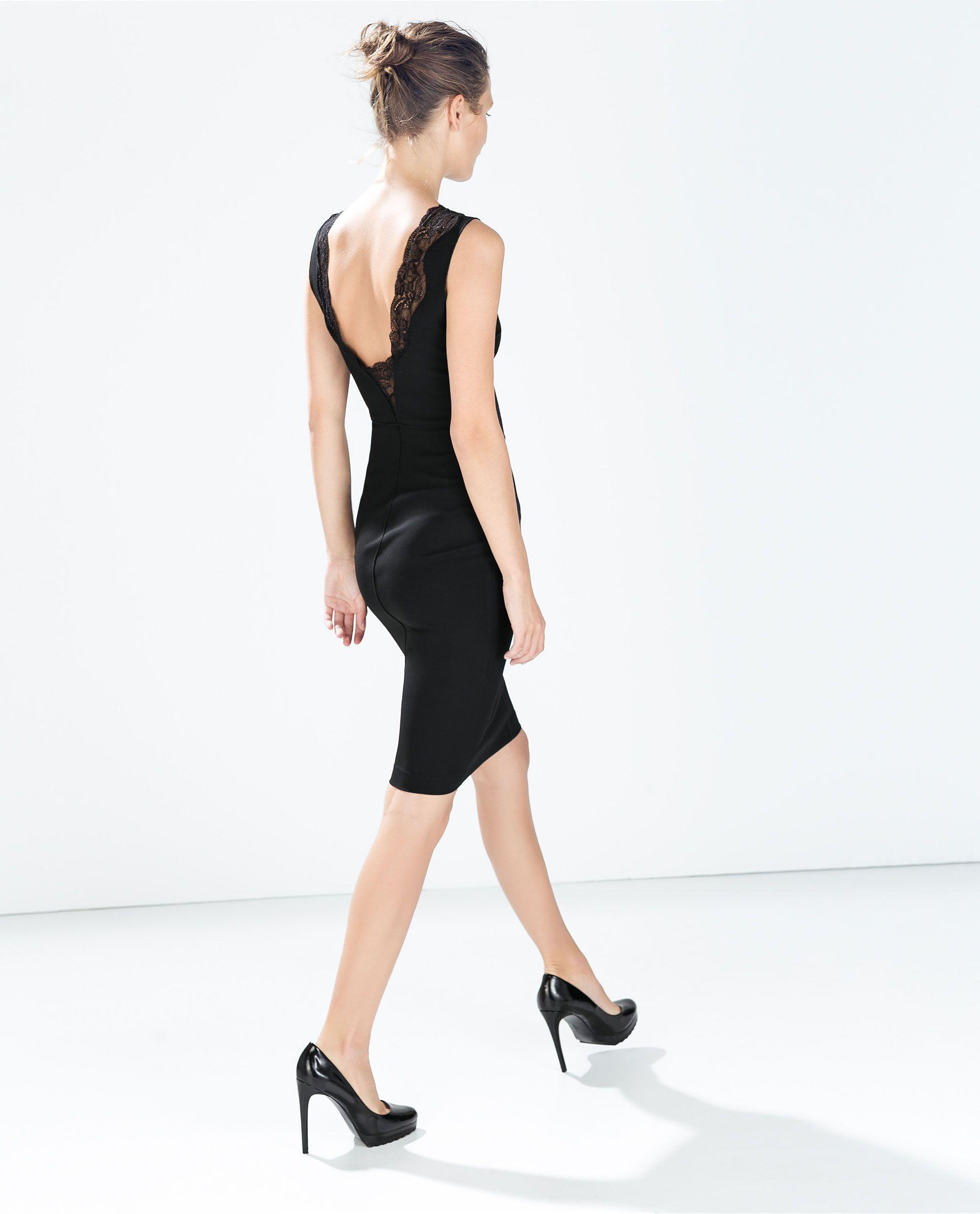 LACE V - NECKED DRESS - Dresses - WOMAN | ZARA Ukraine ...