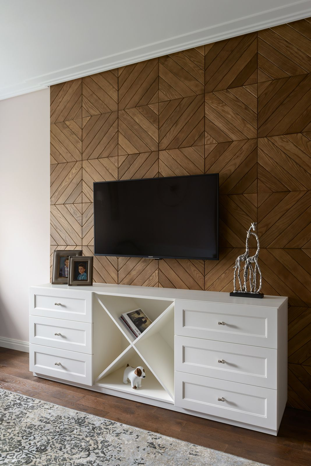 Decorating Living Room With Wooden Panels Panelling With Parquet