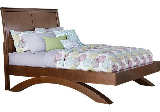Picture Of Belcourt Jr Cherry 3 Pc Twin Sleigh Bed With Arched