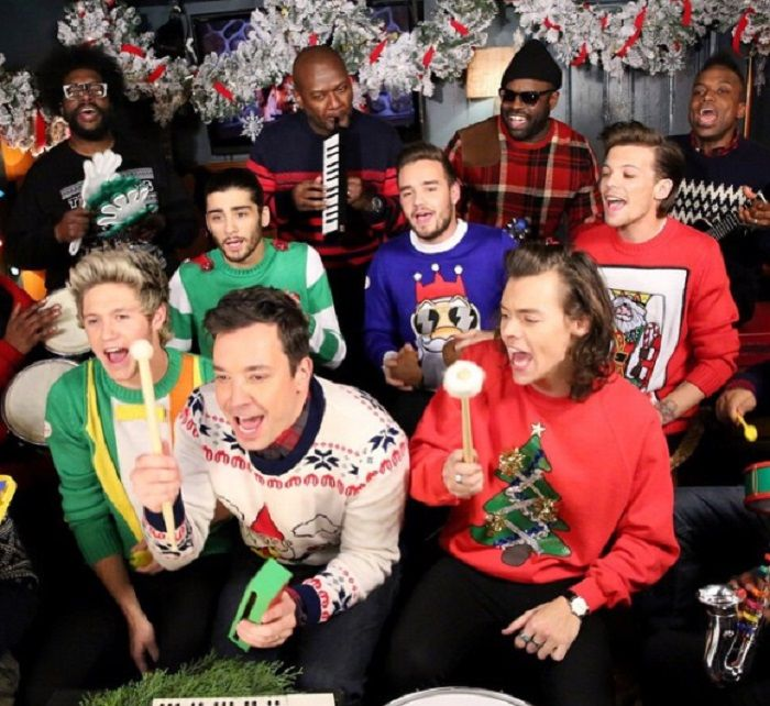 Jimmy Fallon, One Direction and The Roots Sing Holiday Classic Santa Claus is Coming to Town (WATCH) http://www.hngn.com/articles/53846/20141223/jimmy-fallon-one-direction-roots-sing-holiday-classic-santa-claus.htm