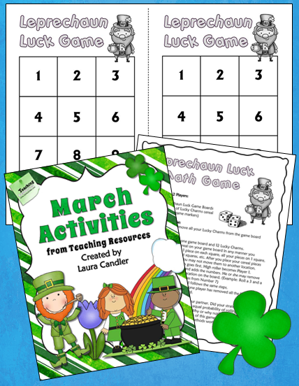 Leprechaun Luck Probability Freebie Math activities