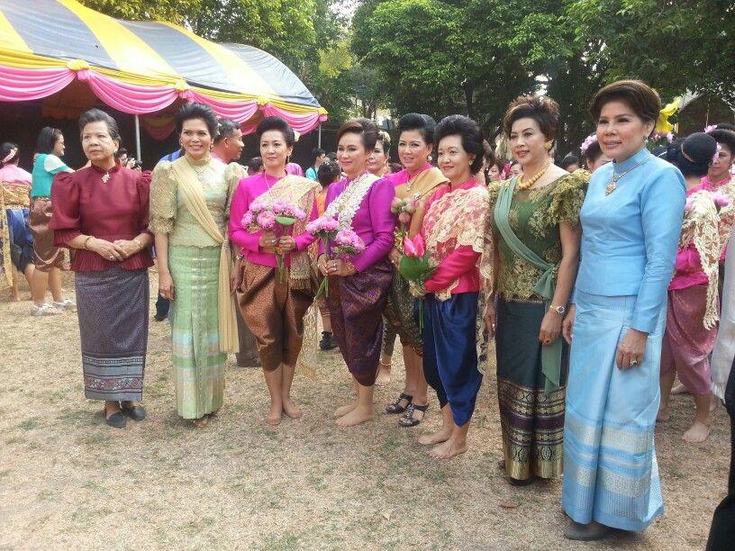 Modern thai ancient dresses