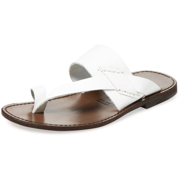 366b62bb5 Miramare Italia Men s Toe Ring Thong Sandal - White
