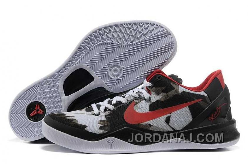 nike zoom kobe viii mens white black red christmas deals kobe red christmas and nike zoom