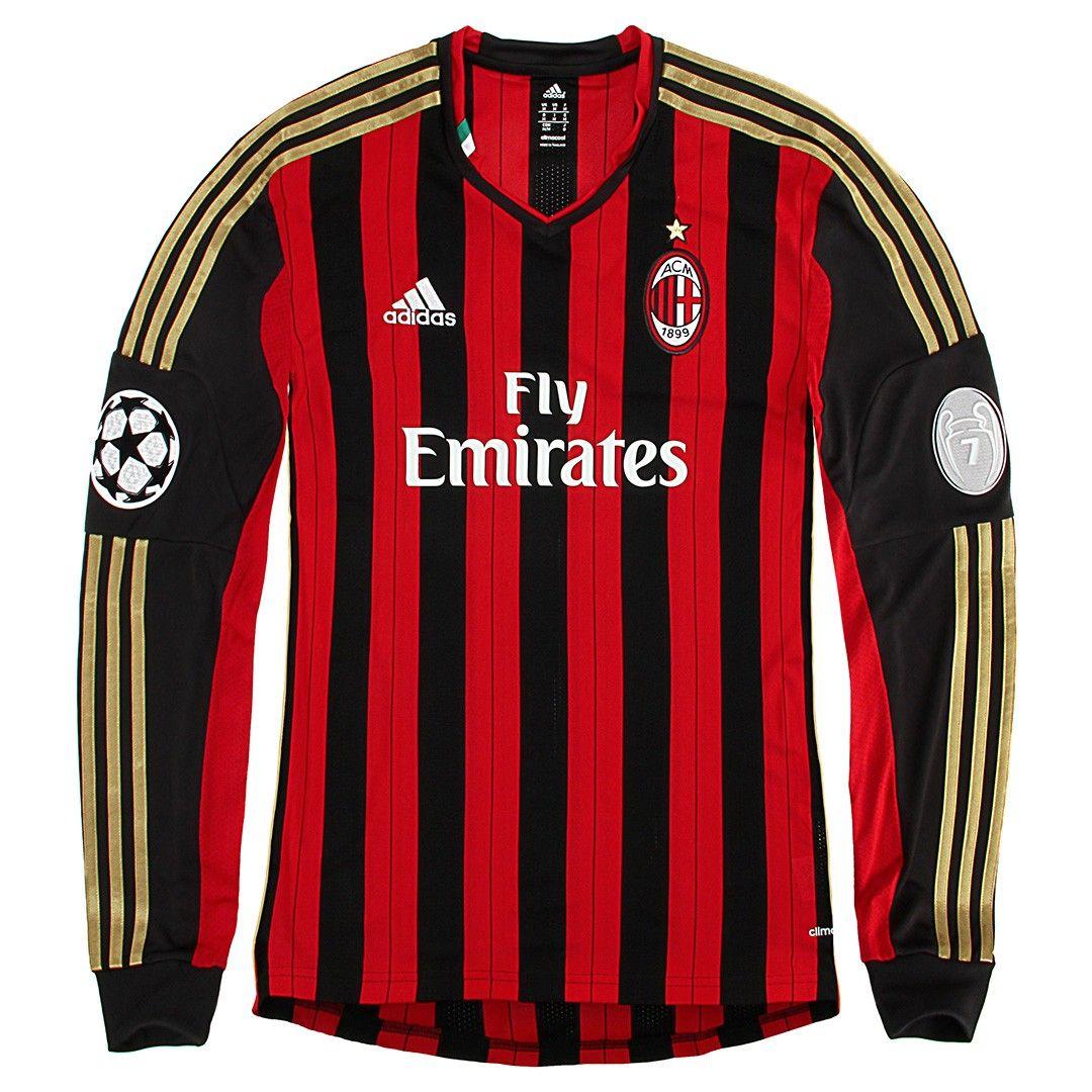 new style db976 94545 adidas AC Milan long sleeve home jersey 2014 | adidas ...