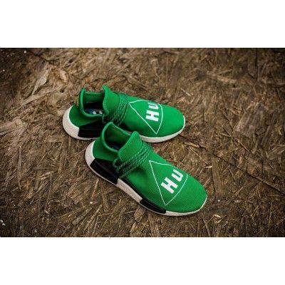 111966fdd Discount Unisex Pharrell Williams X Adidas Originals NMD Human Race Green  BB0620 Running Shoes