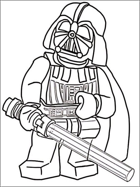 Dibujos para imprimir y pintar para niños Lego Star Wars 12 ...